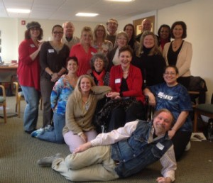Current Group of OASIS Trainees with Millie and O Grad Assistants  – End of Day 1 – at Mercy Center, April 4, 2014